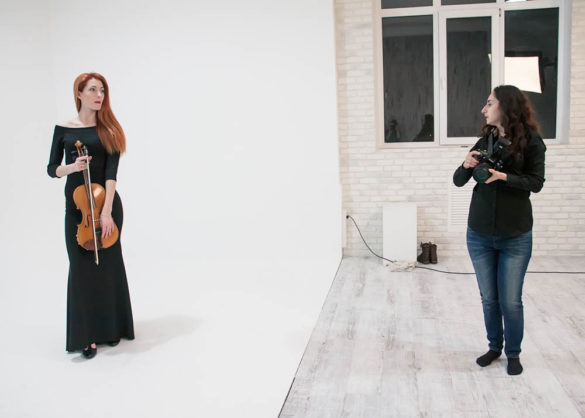 Зйомка музикантів для гастрольних афіш